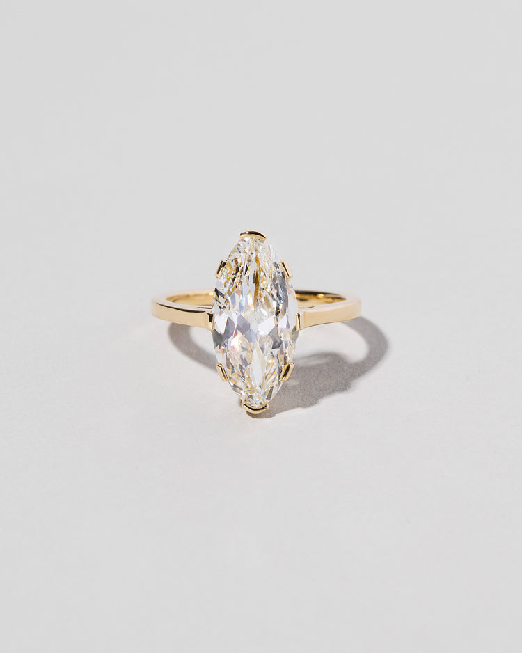 Front view of North-South Navette Diamond Solitaire Ring