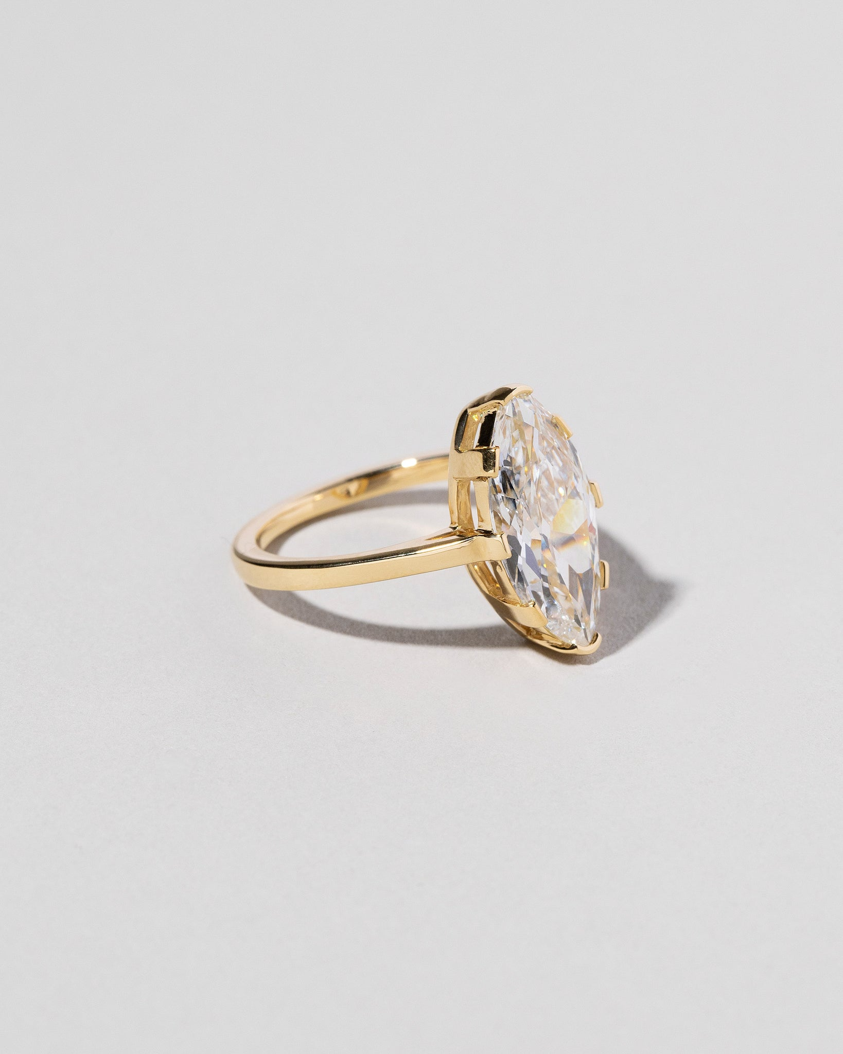 Right view of North-South Navette Diamond Solitaire Ring