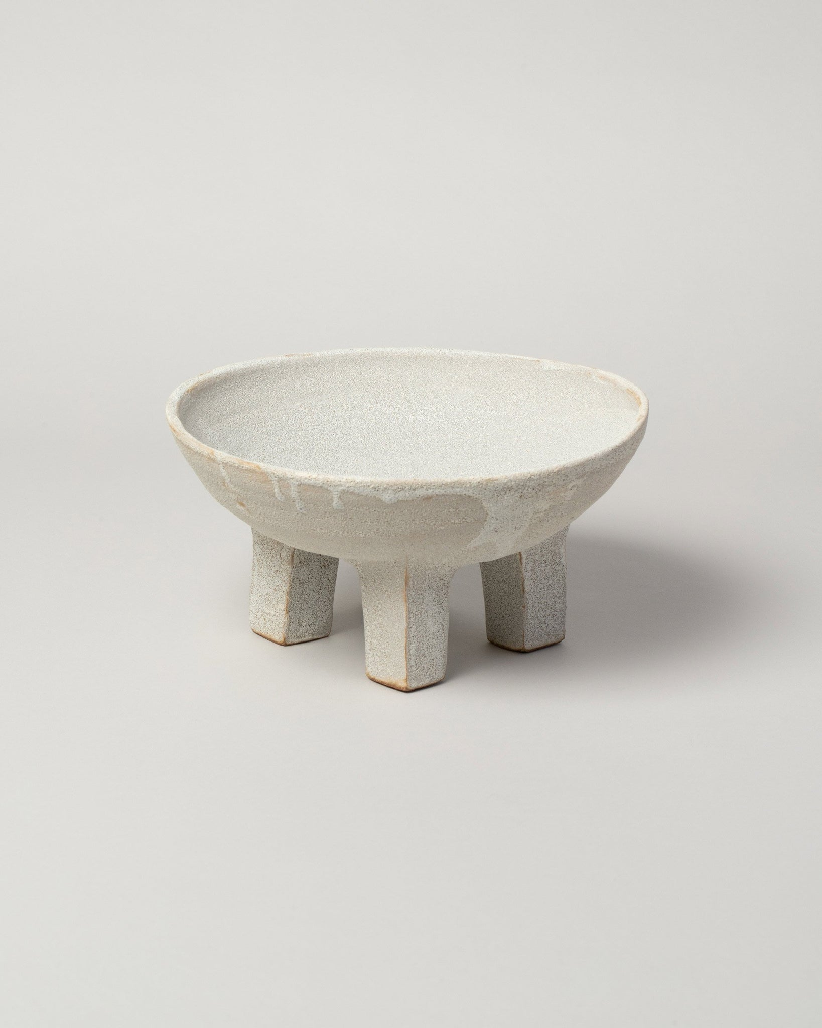 Nur Ceramics Volcanic Ritual Bowl on light color background.