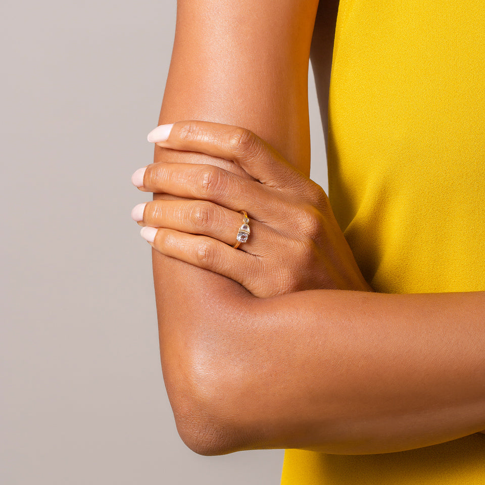 product_details::Sloane Ring worn on model