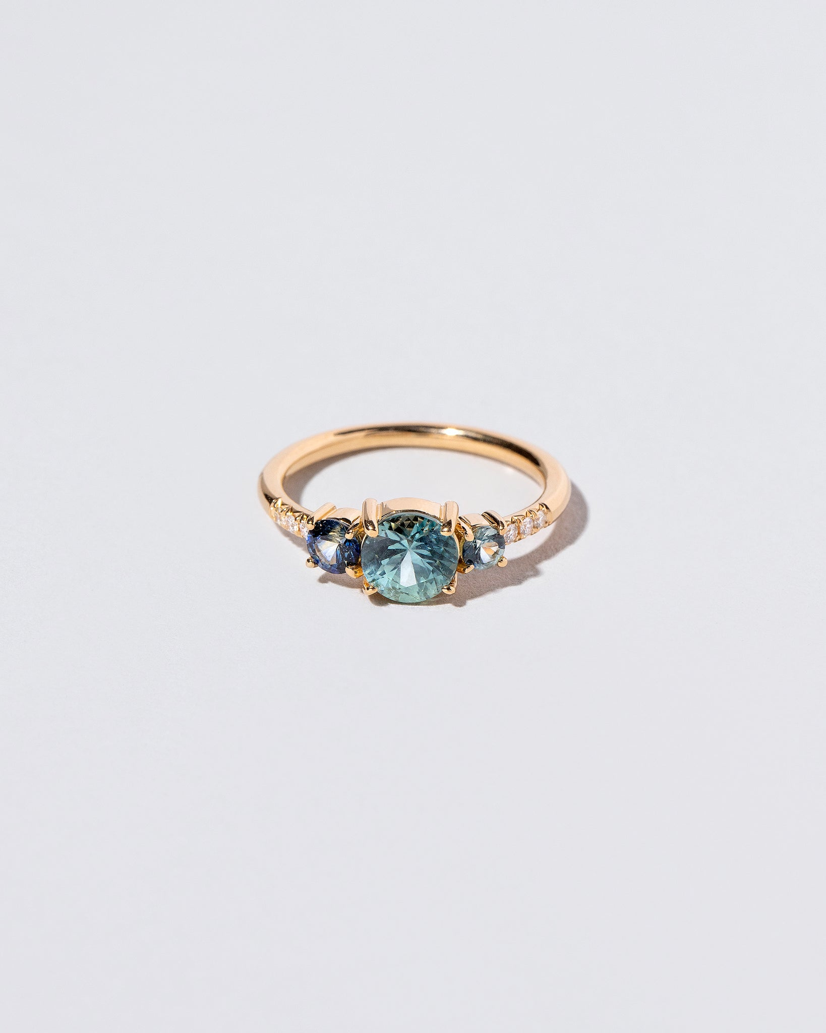 Orion Ring - Blue Sapphire on light color background