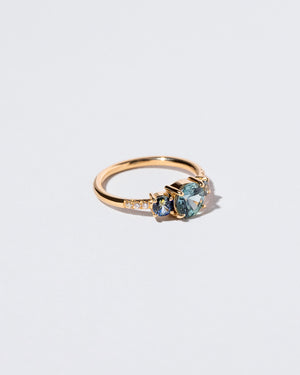 Blue Sapphire Orion Ring left facing