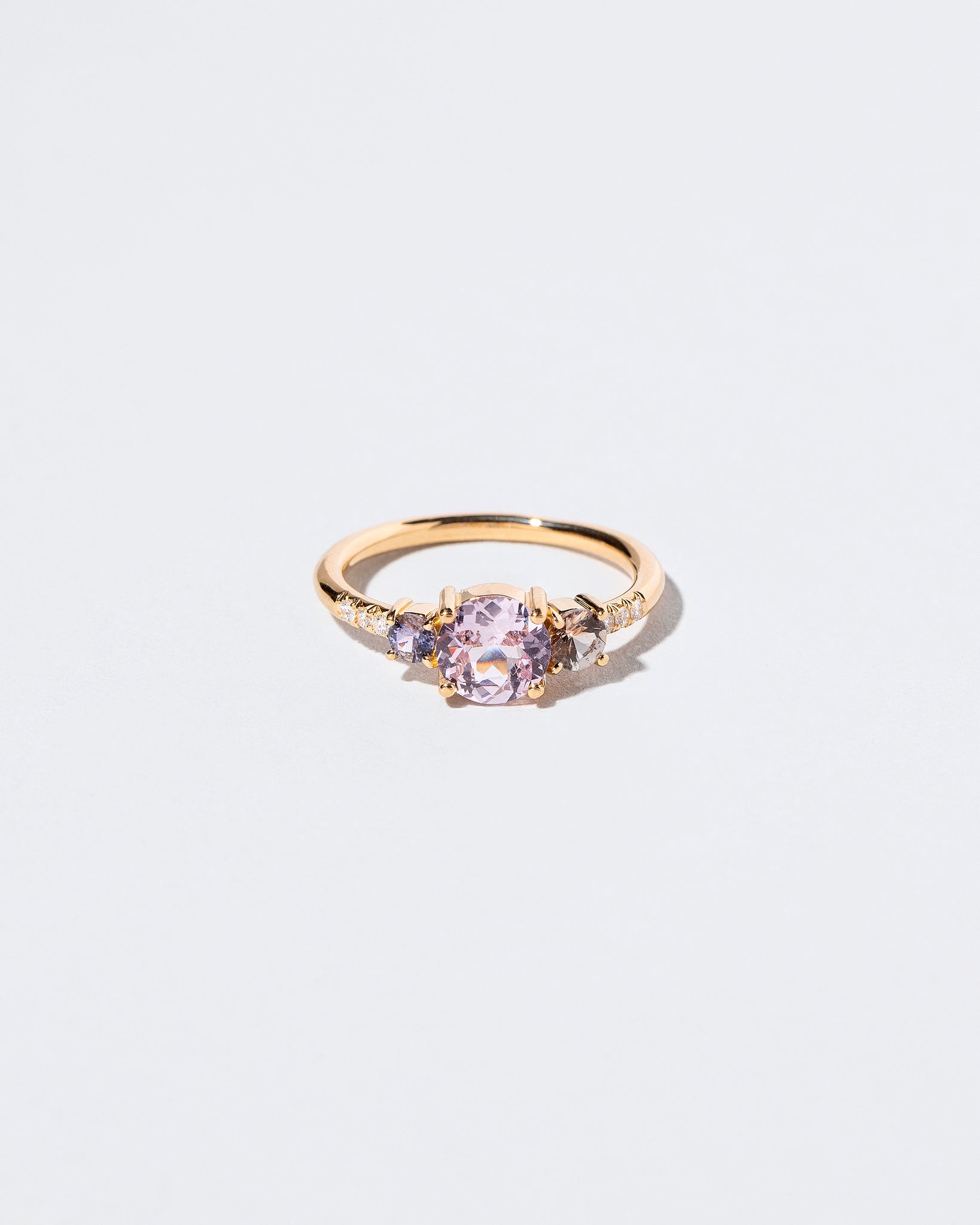 Pink Sapphire Orion Ring front facing