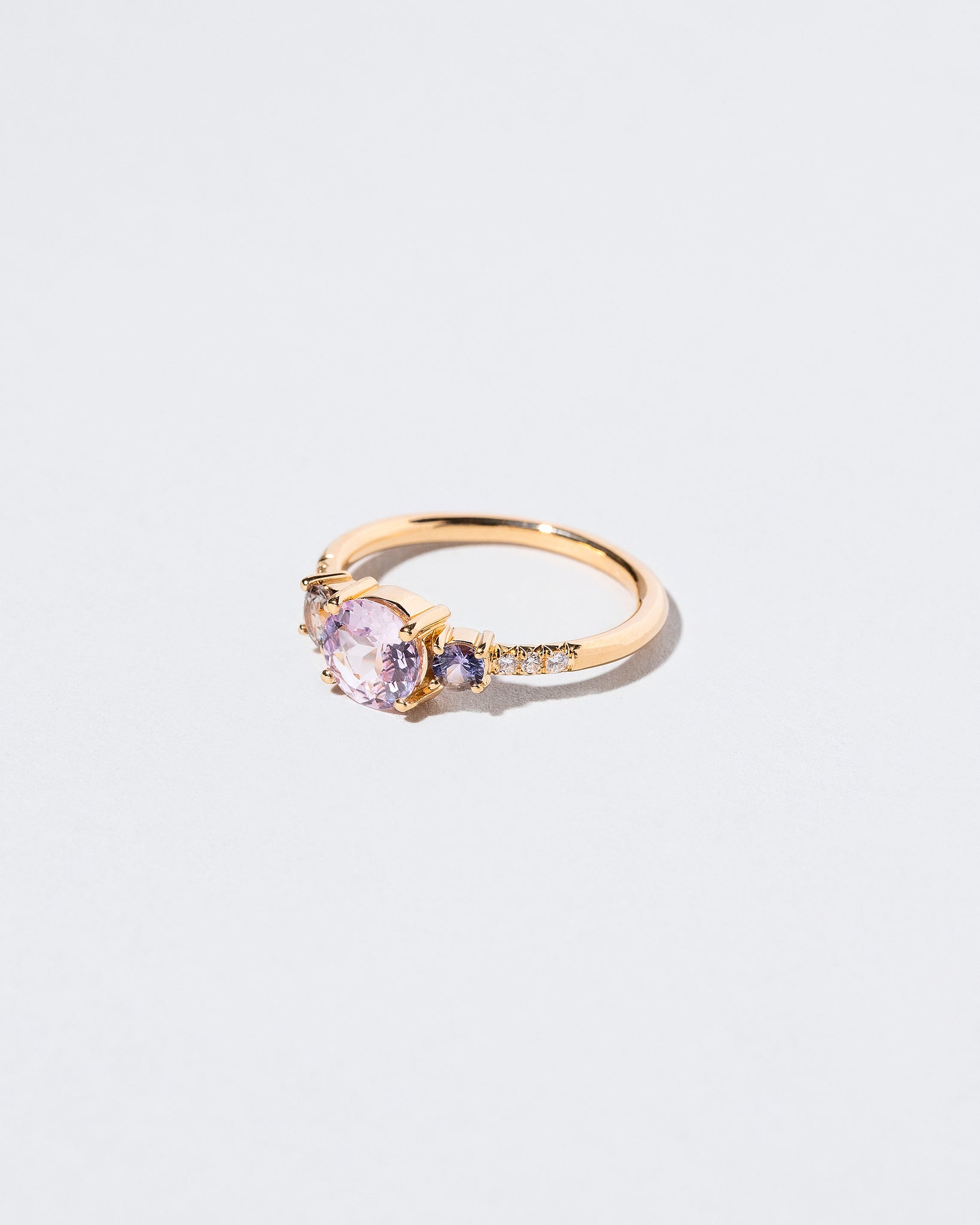 Pink Sapphire Orion Ring right facing