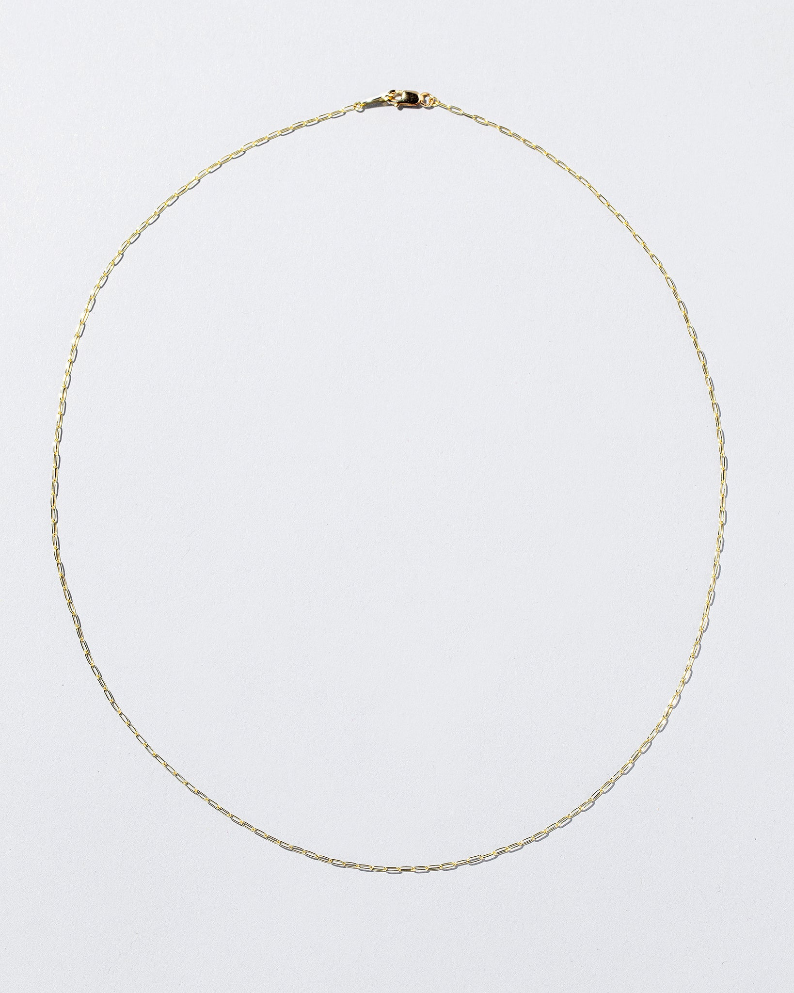 Oval Chain Necklace laying flat