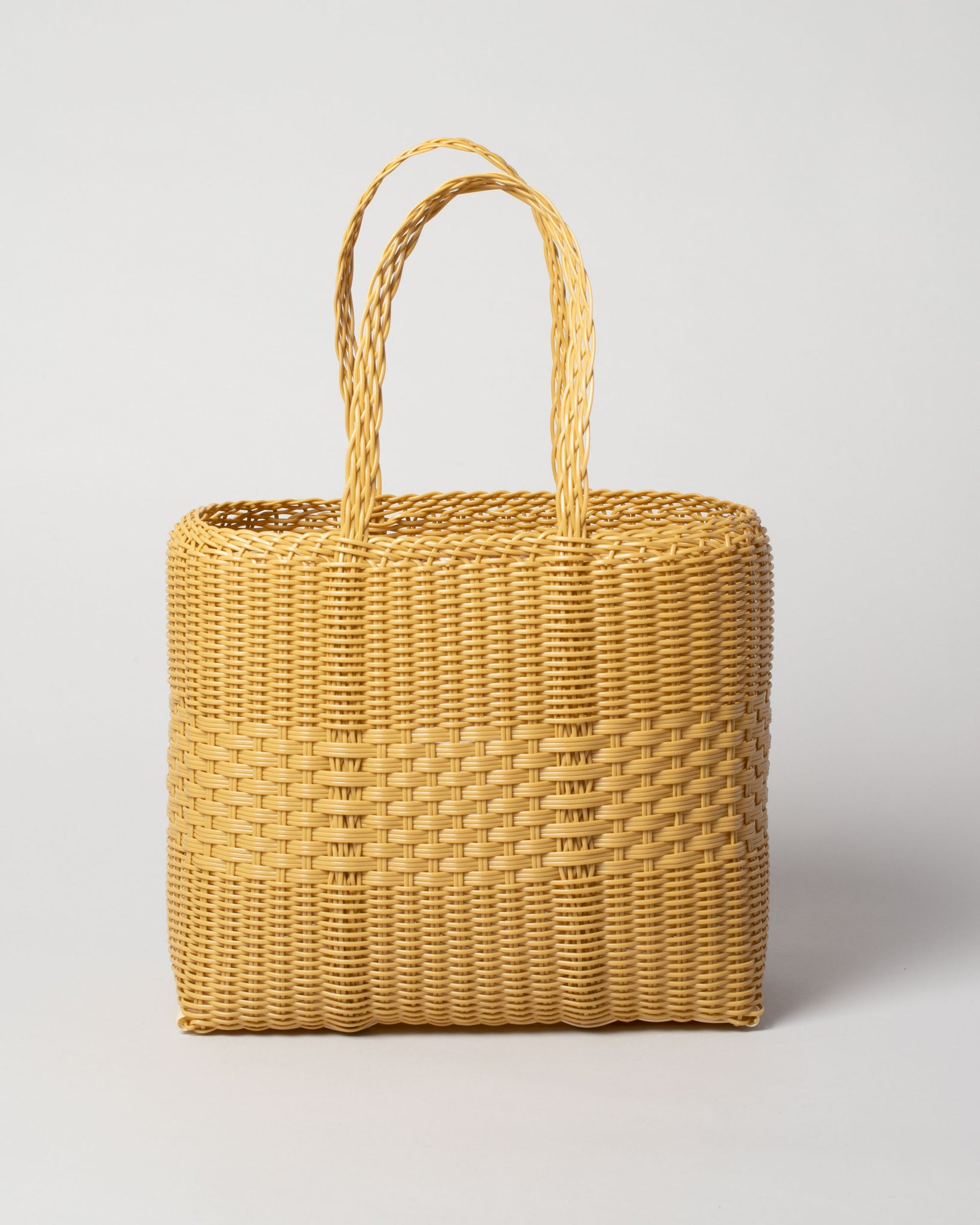 Tote Basket in Caramel Front View
