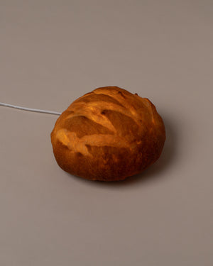 Boule Lamp side view illuminated