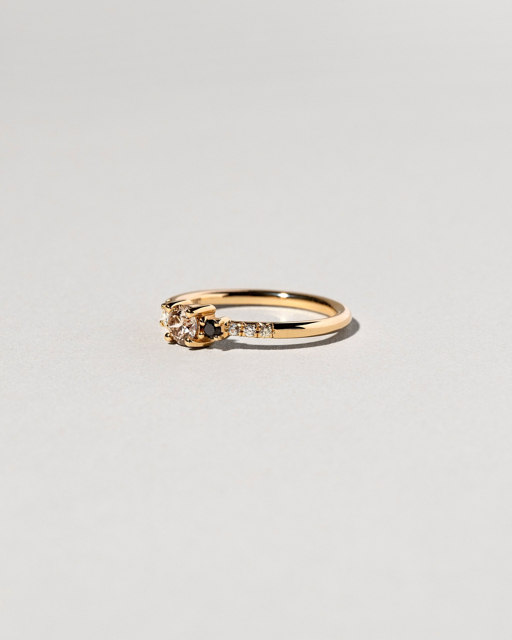 Right side view of Patira Cluster Ring featuring Champagne Diamond