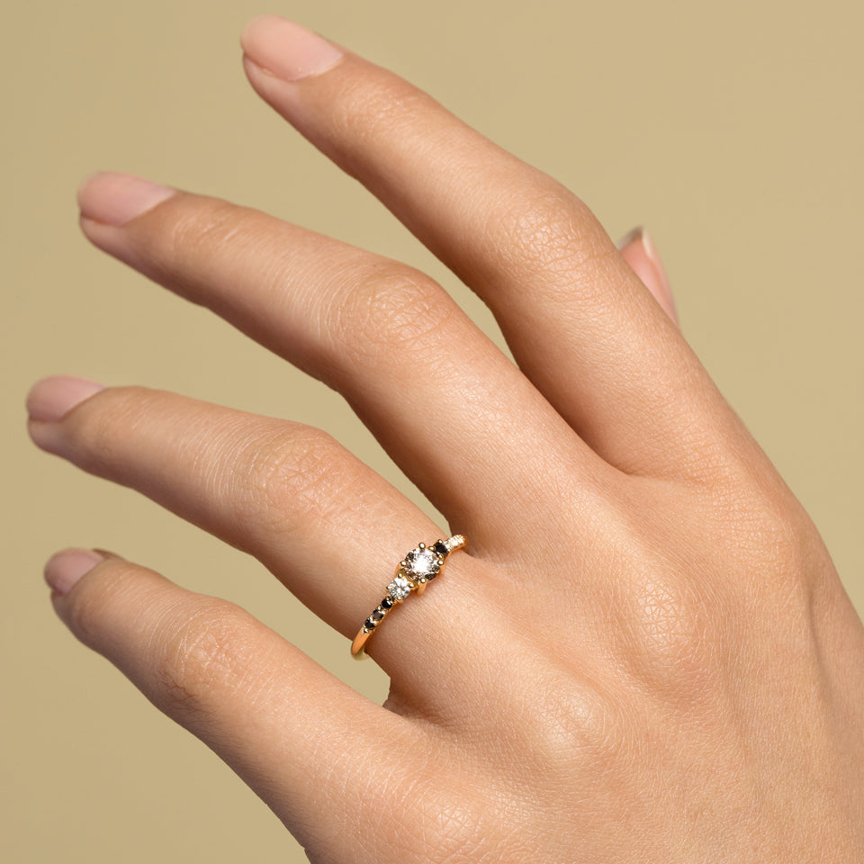 Patira Cluster Ring featuring Champagne Diamond