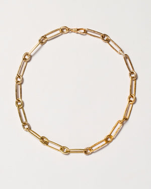 "Link Necklace 17.5"" with pavé links"