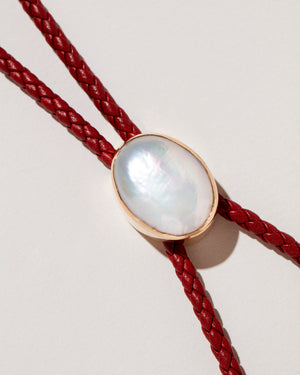 Pearl Snake Bolo close up of pendant