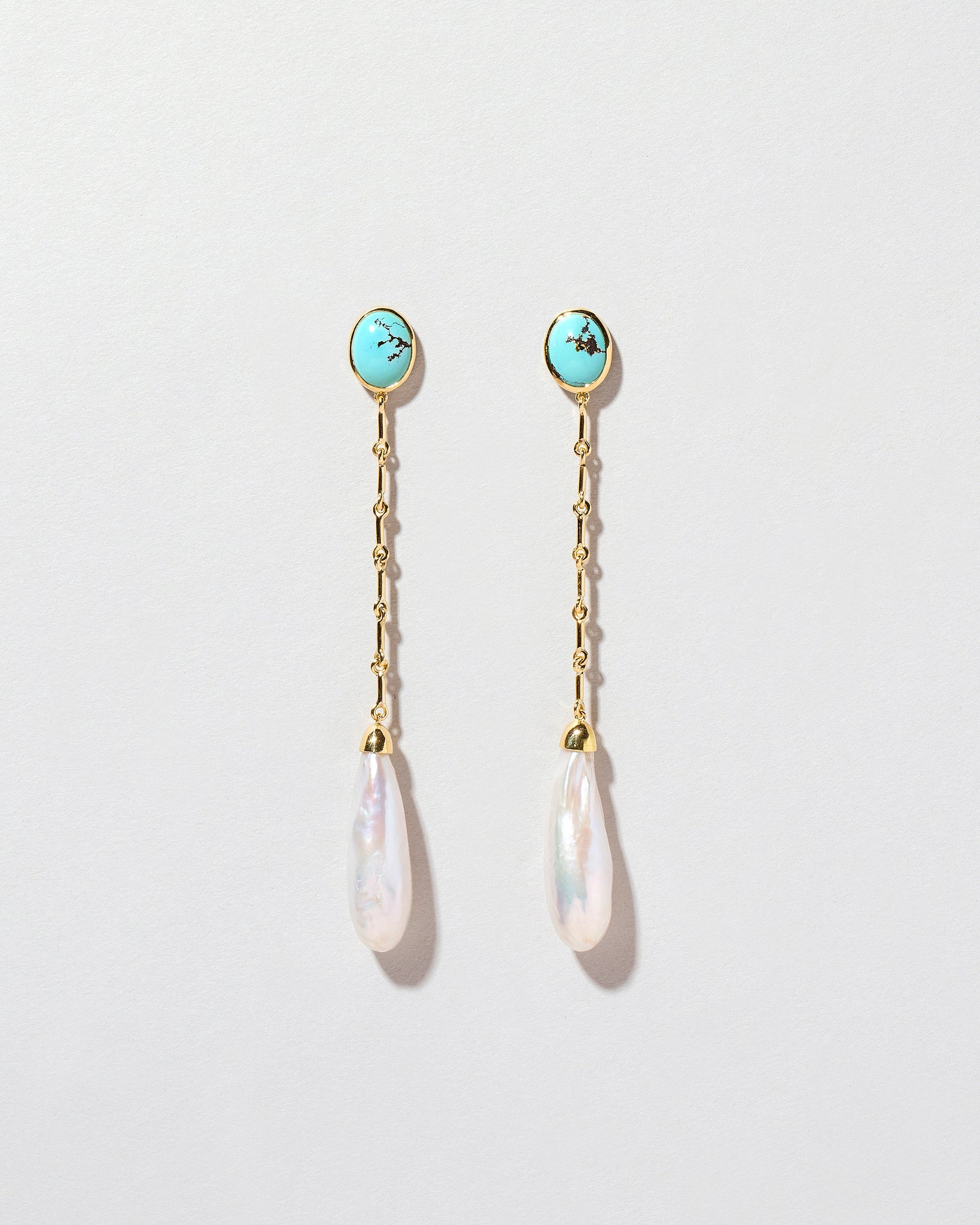 Pearl & Turquoise Shoulder Dusters
