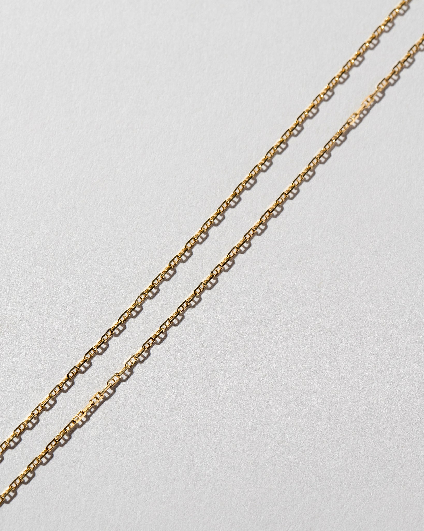 Petite Diamond Cut Chain Necklace Laid Flat