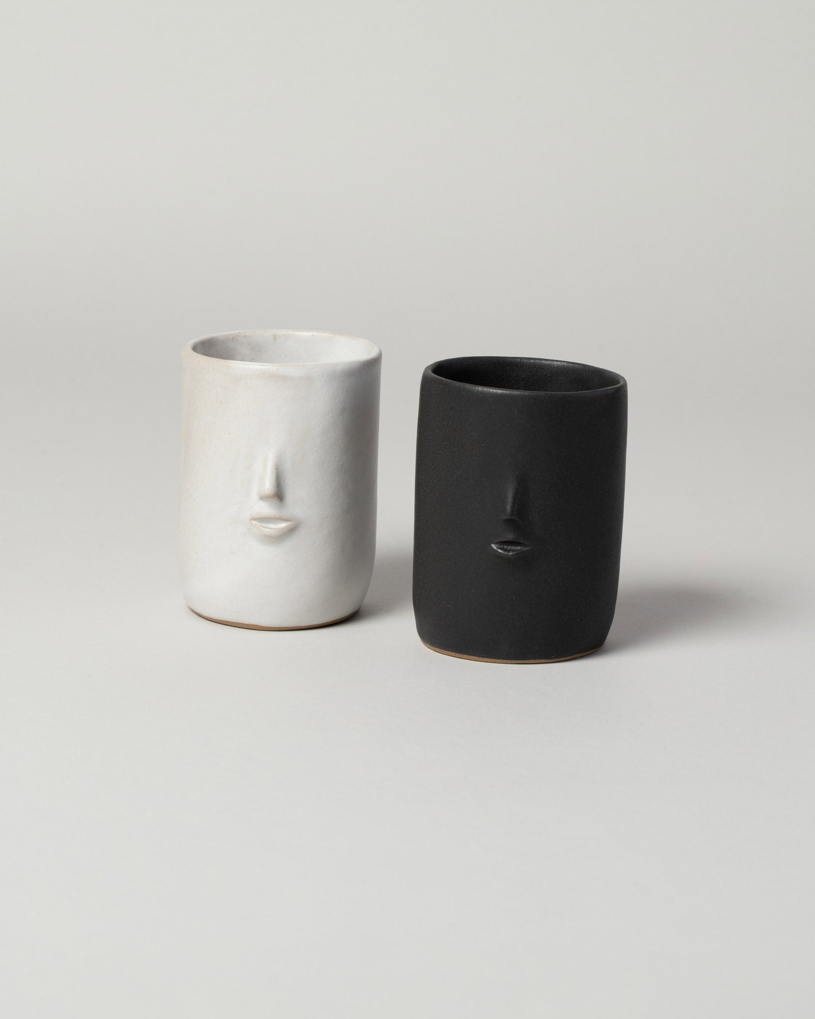 Rami Kim Mini Face Tumbler in matte black and matte white