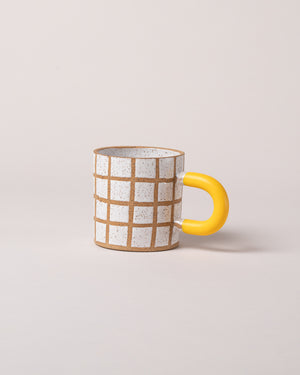 Grid Mug in Yellow