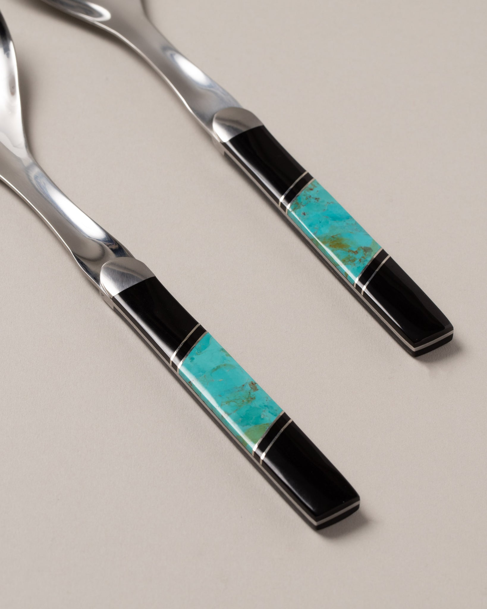 Santa Fe Stoneworks Salad Serving Set turquoise