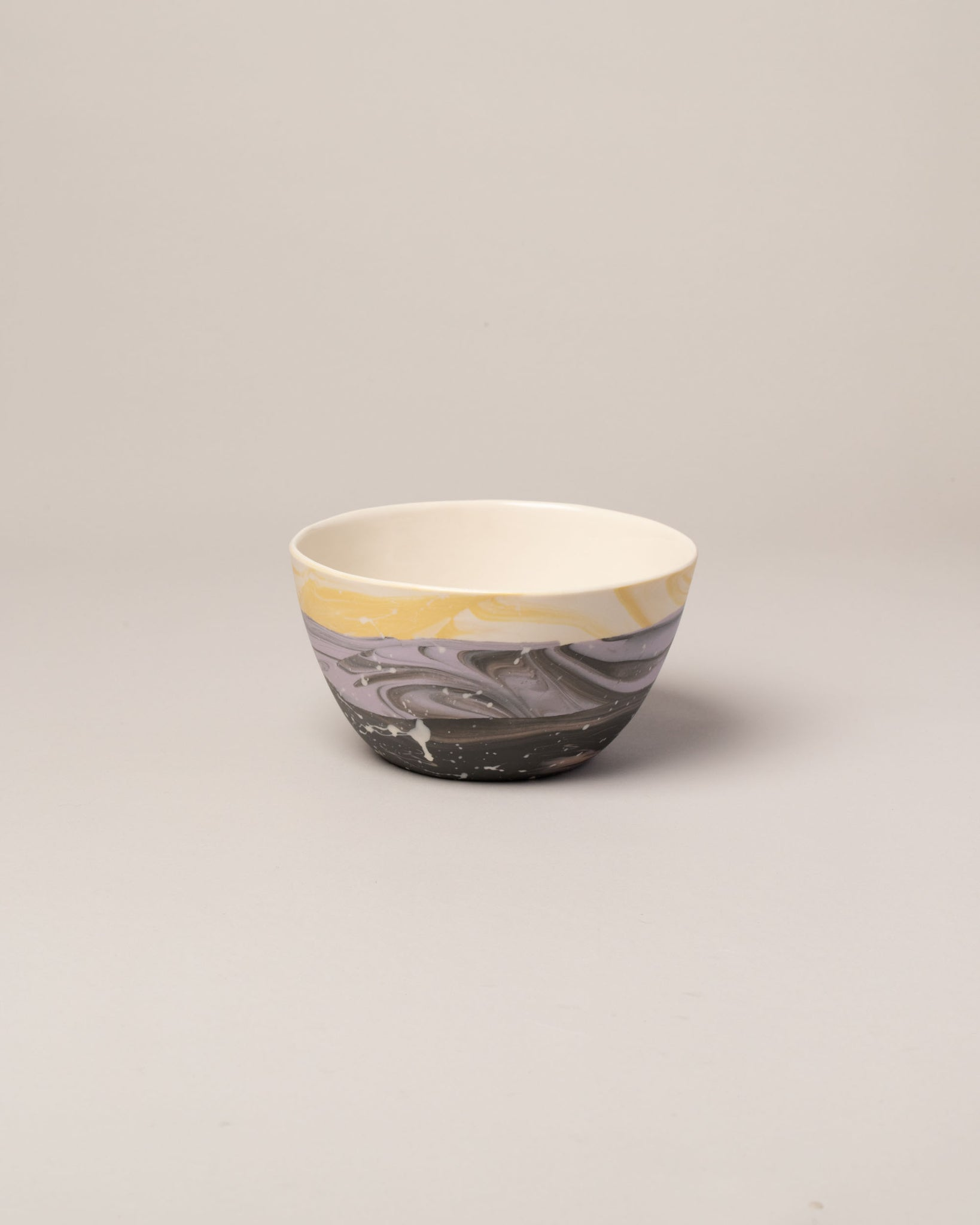 Stellar bowl in lavender and yellow