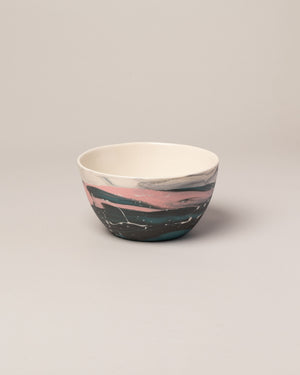 Stellar bowl in pink and teal