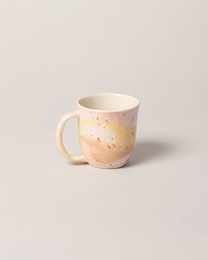Stellar Mug in Pink with Red Splatter