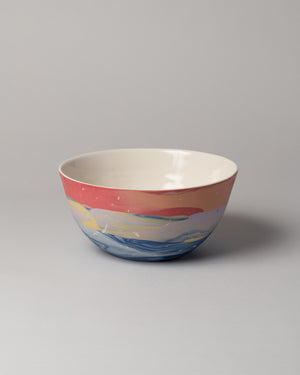 Stellar Serving Bowl in pink and blue