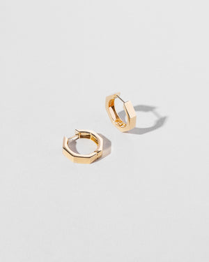 Segmented Hoops Solid Gold