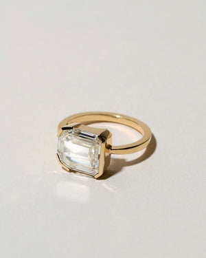 Shield Step Cut Diamond Ring Right Side