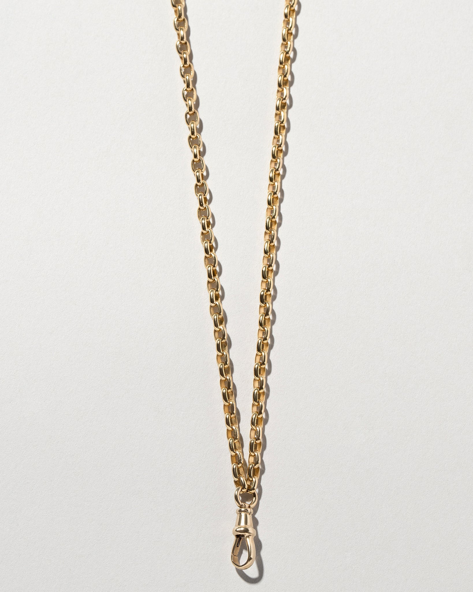 Short Loop Chain Necklace with Fob