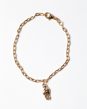Sign Language Letter C Charm on Chain Bracelet