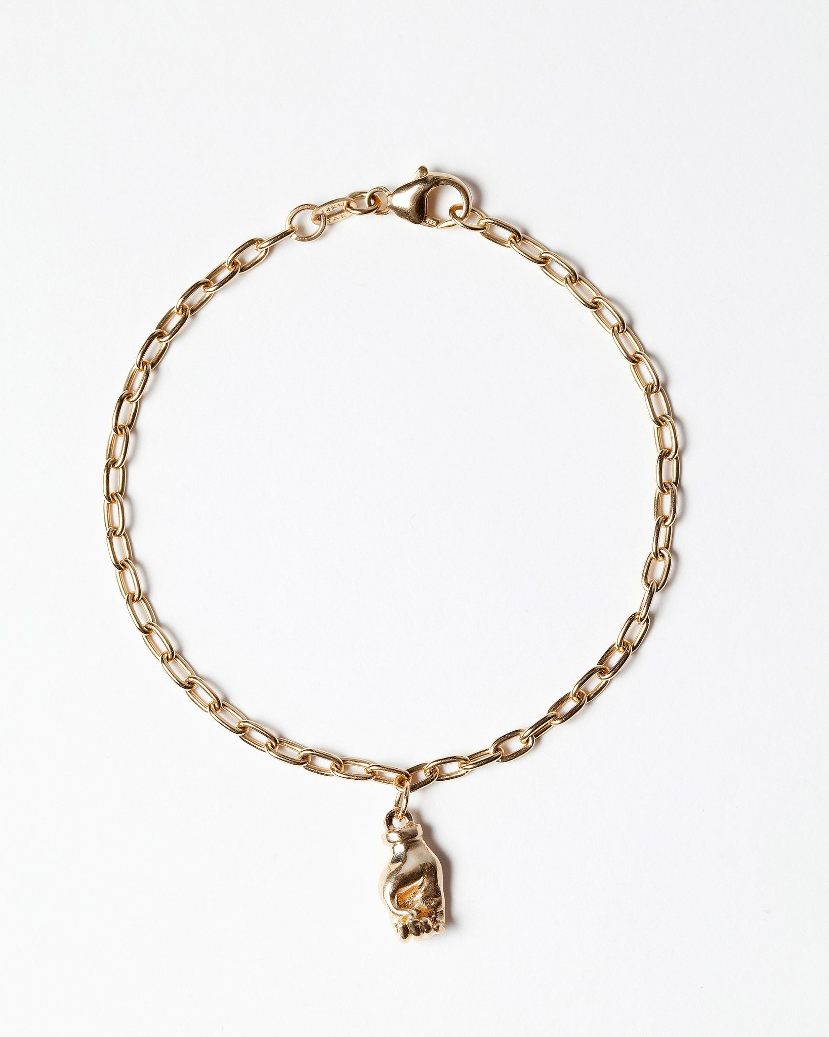 Sign Language Letter O Charm on Charm Bracelet