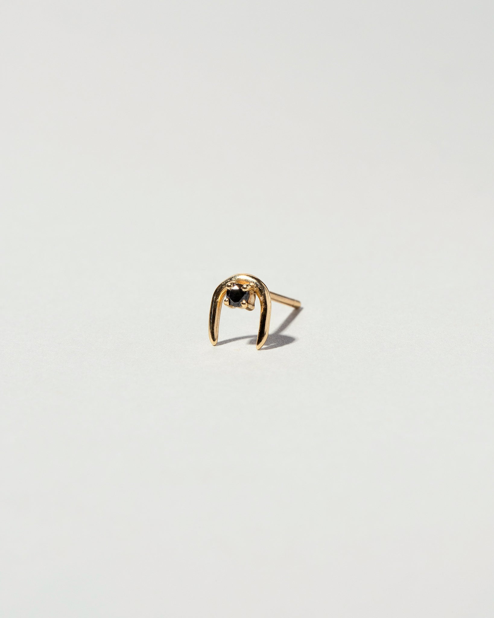 Single Moon Catcher Stud Earring Black Diamond