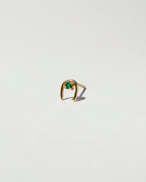 Single Moon Catcher Stud Earring Emerald