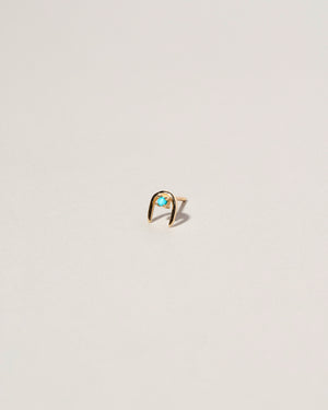Single Moon Catcher Stud Earring Turqoise