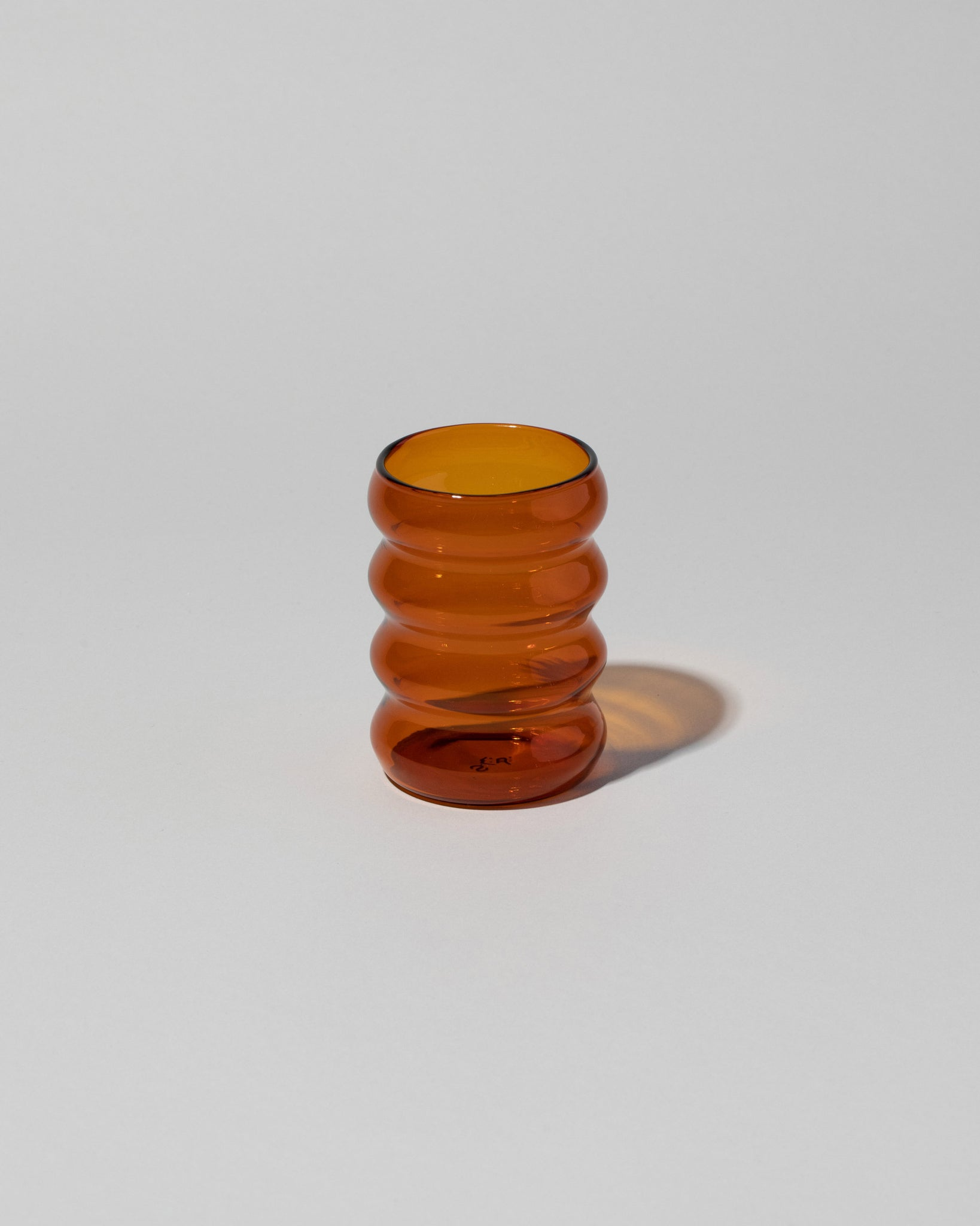 Ripple cup in Amber