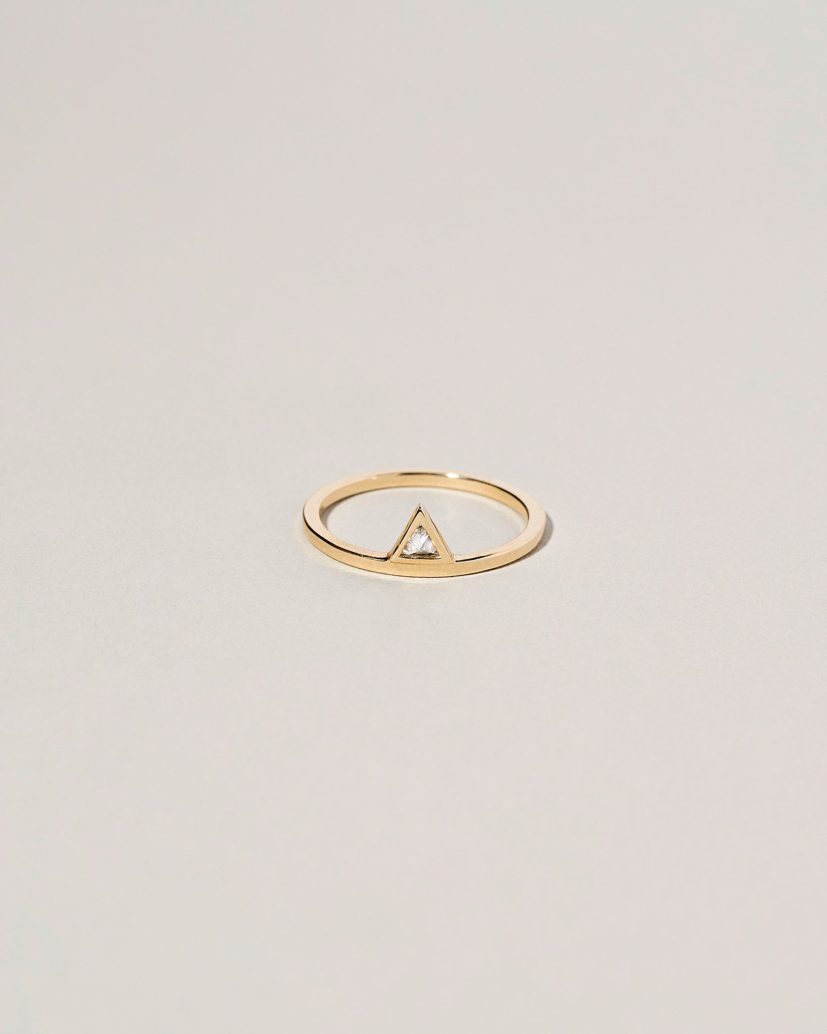 Stacked Diamond Triangle Ring Front View