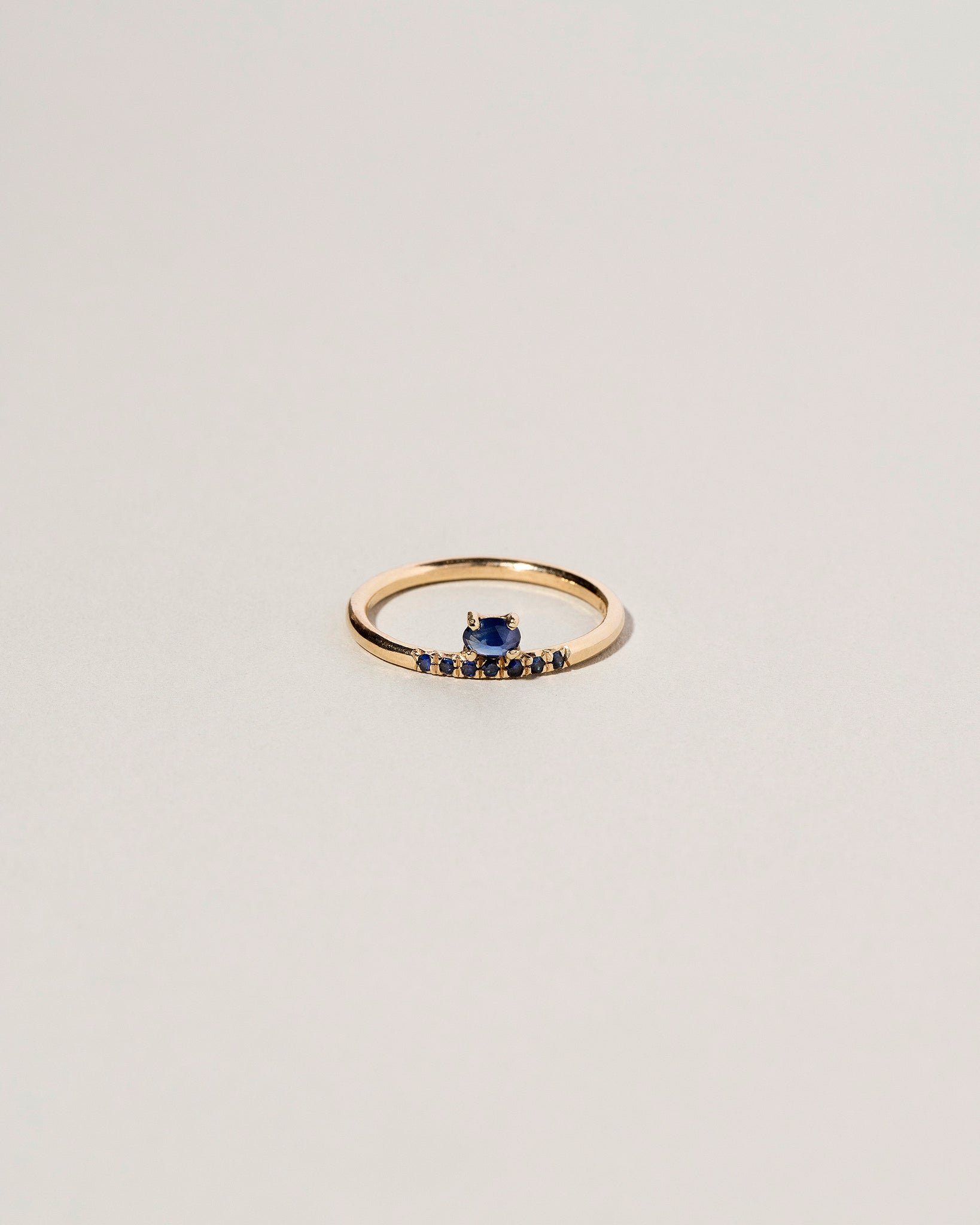 Stacked Sapphire Ring Front View