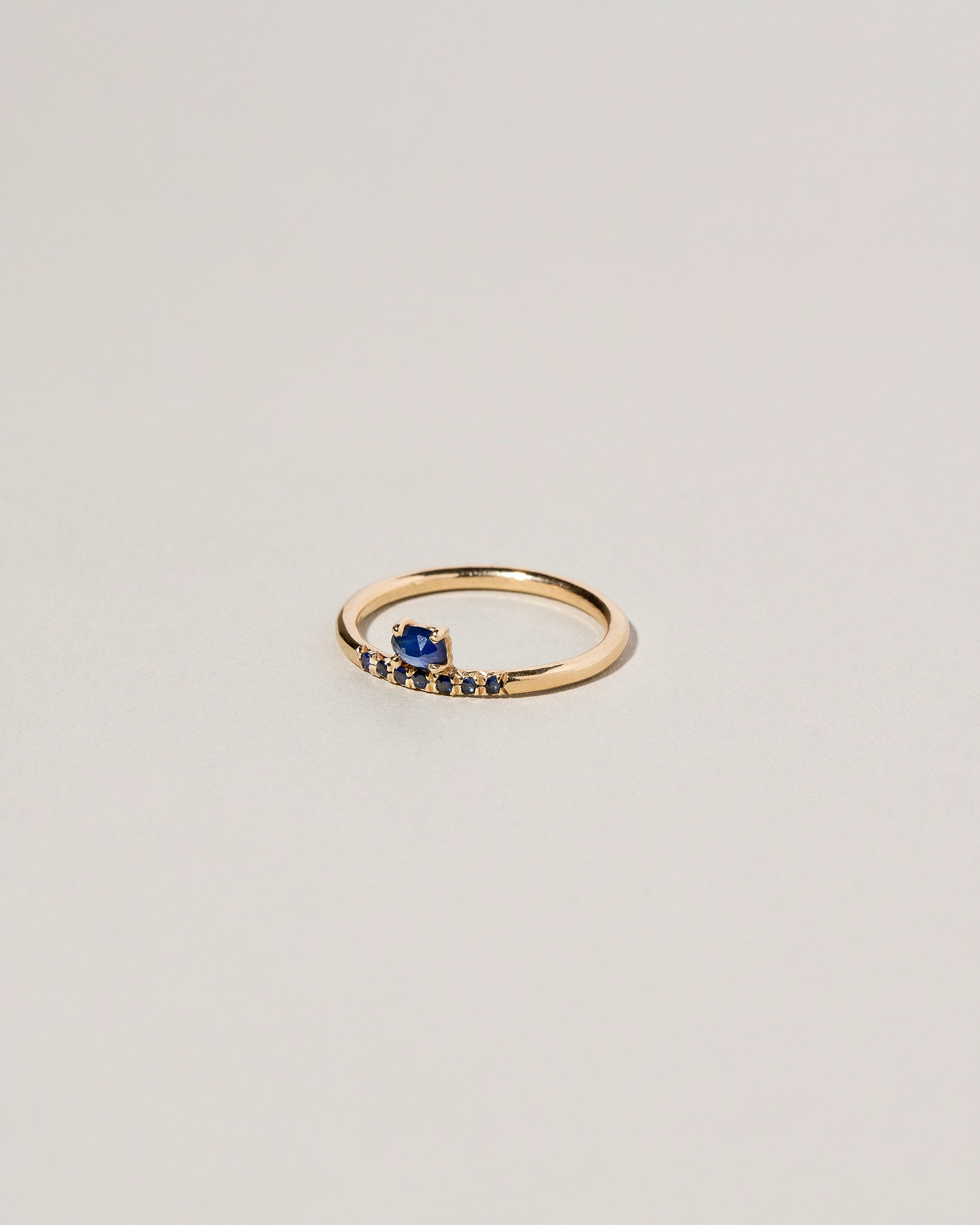 Stacked Ring - Sapphire & Black Diamond