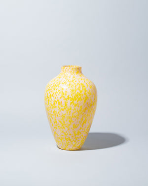 Stories of Italy Yellow & Pink Olla Vase on light color background