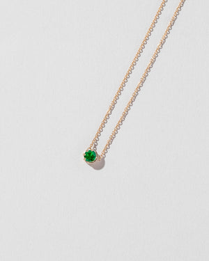 Sun & Moon Necklace Emerald flat view