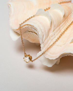 Sun & Moon Diamond Necklace Styled
