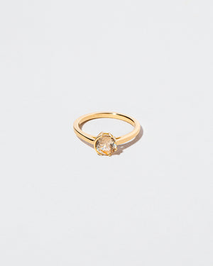 Bicolor Yellow Sapphire Sun & Moon Ring front facing