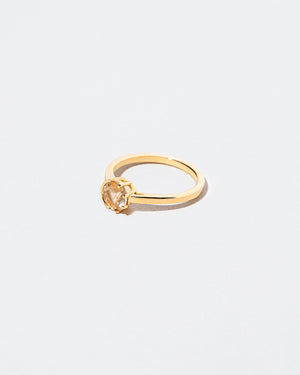Bicolor Yellow Sapphire Sun & Moon Ring right facing