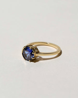Sun & Moon Sapphire Ring Right Side