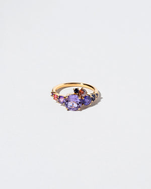 Purple Sapphire Super Luna Ring front view