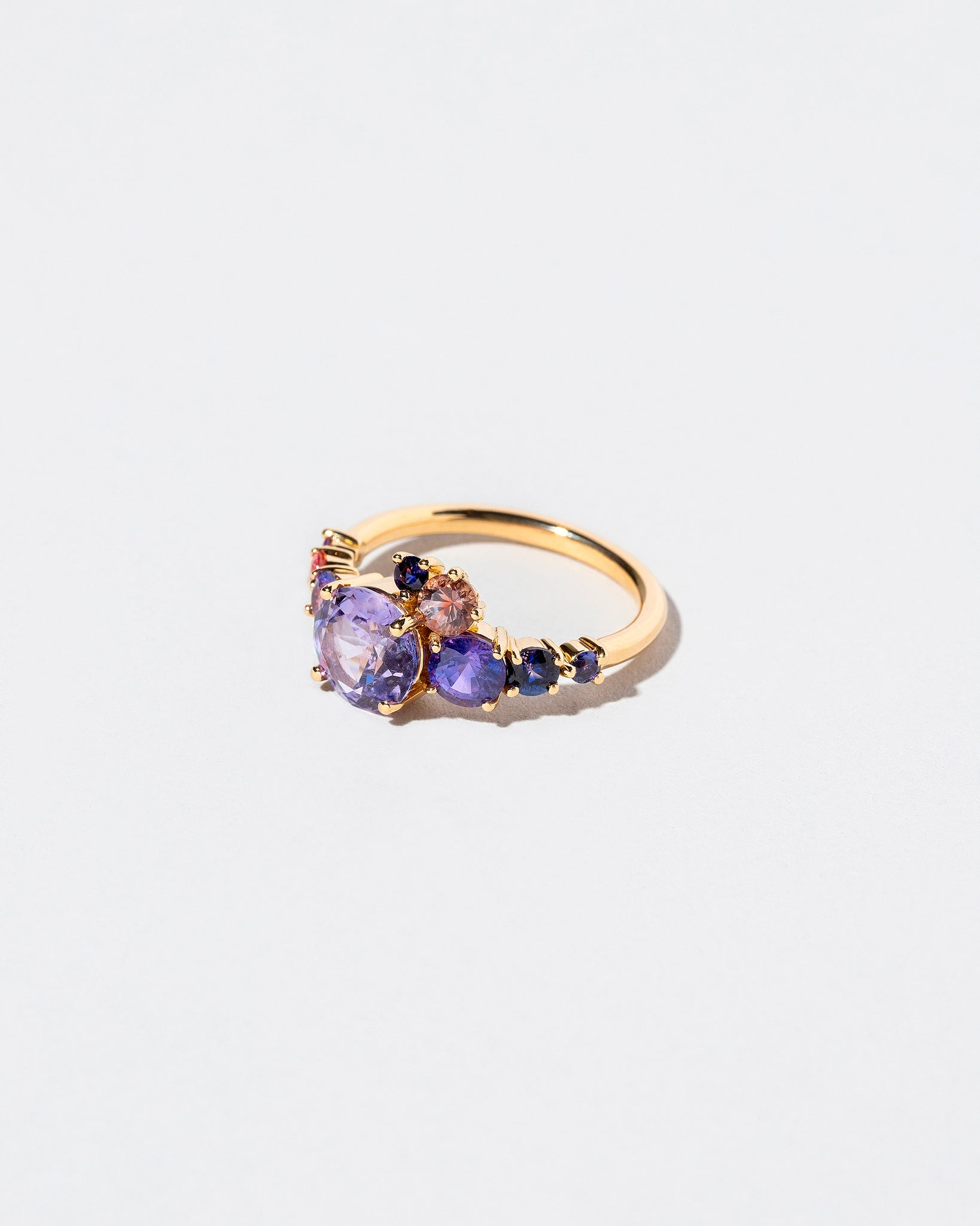 Purple Sapphire Super Luna Ring left view
