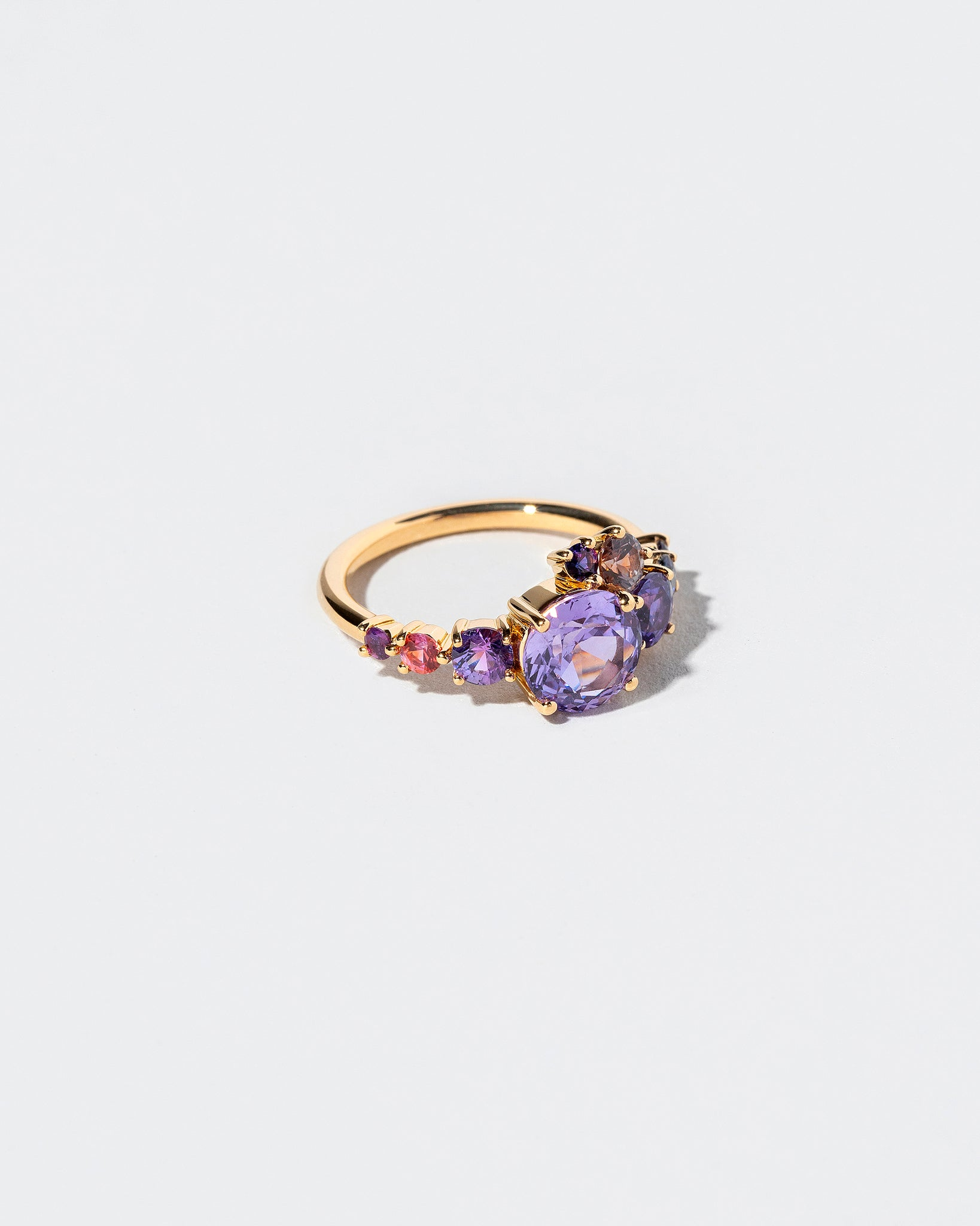 Purple Sapphire Super Luna Ring right view