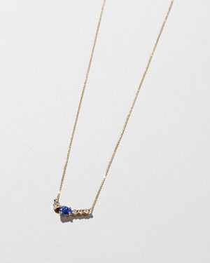Teardrop Necklace Blue Sapphire side view