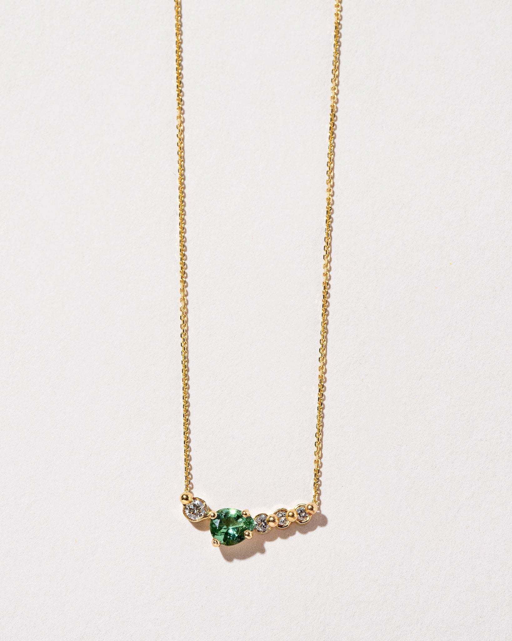 Teardrop Necklace Tourmaline / 18k Gold