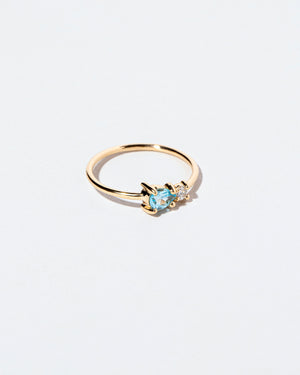 Blue Zircon Teardrop Ring right view