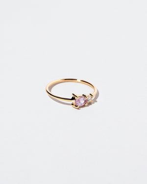 Teardrop Pink Sapphire Cluster Ring right view