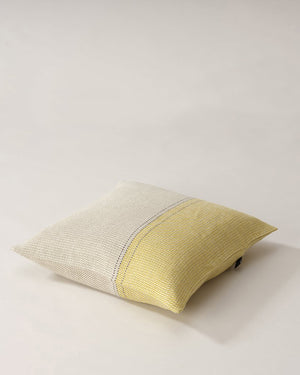 Teixidors Cushion Cover D'Abord in Light Grey Mustard, Square Pillowcase Cover